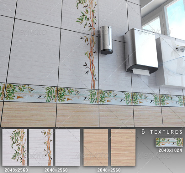 Professional Ceramic Tile Collection C026 - 3DOcean Item for Sale