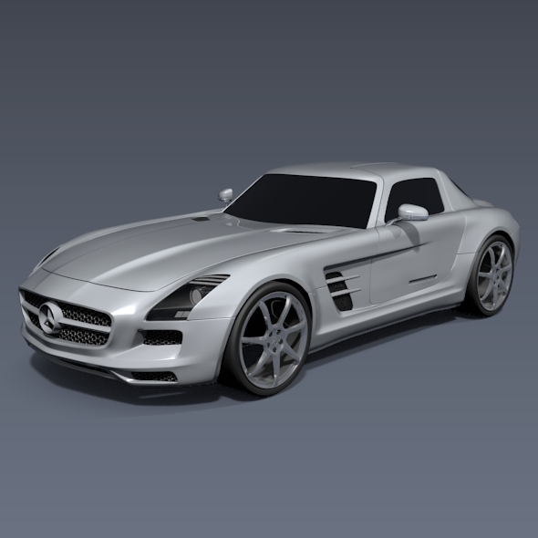 Mercedes-Benz SLS 2011 amg sports car - 3DOcean Item for Sale