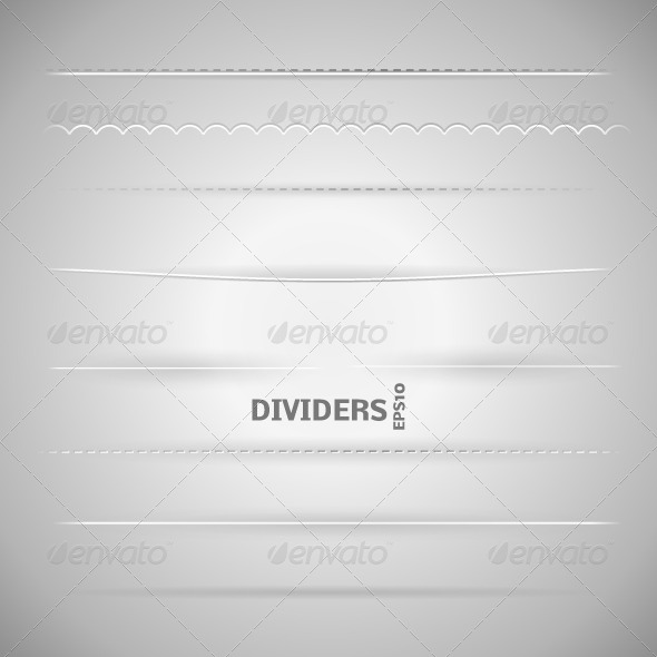 Set of Dividers - Borders Decorative