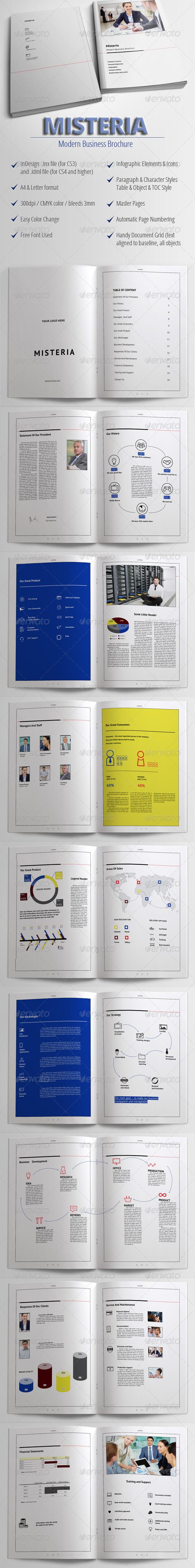Misteria - Modern Business Brochure - Corporate Brochures
