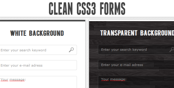 Clean CSS3 input forms - CodeCanyon Item for Sale