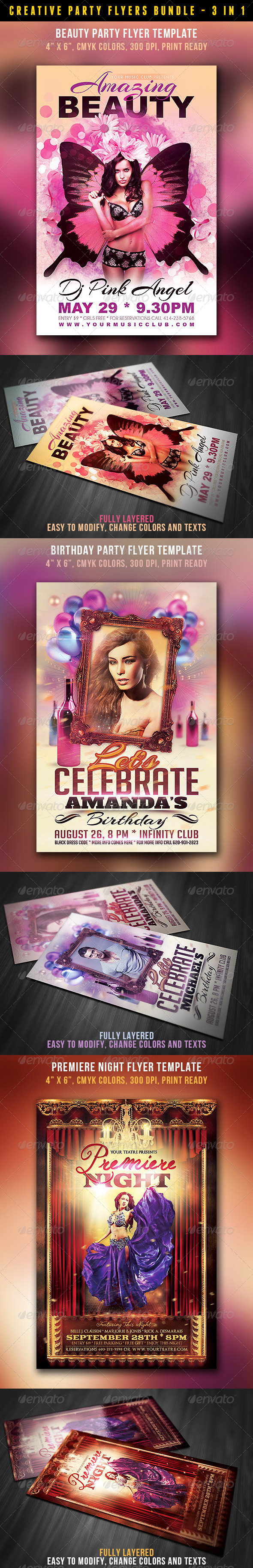 Creative Style Flyers Bundle - Events Flyers