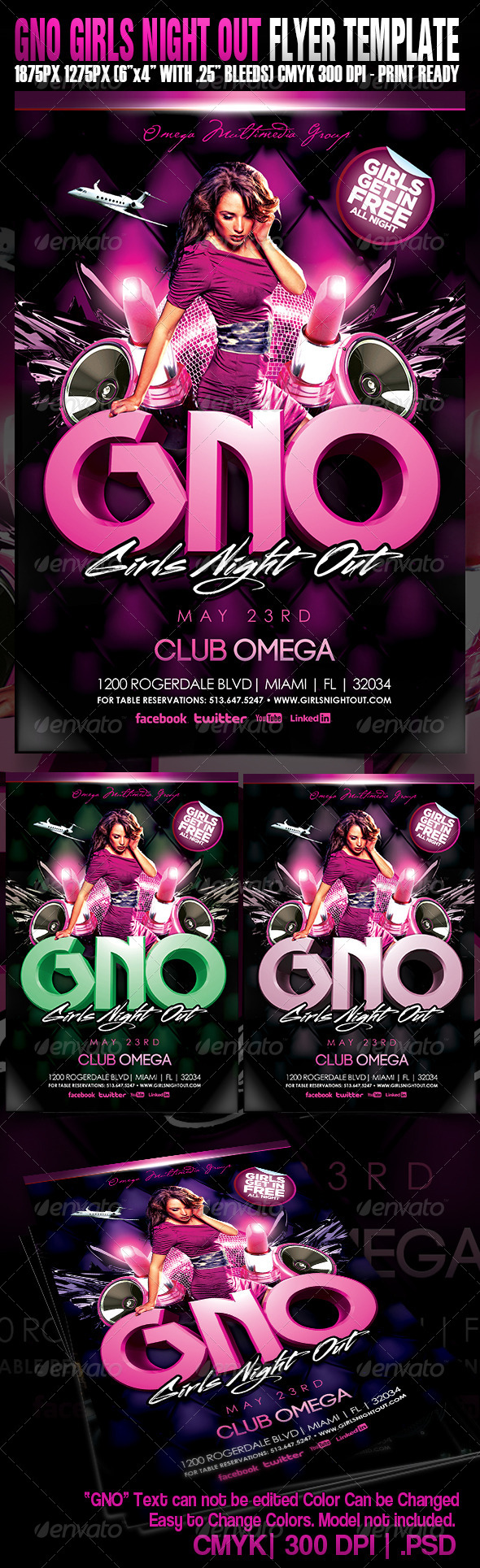 Girls Night Out - Events Flyers