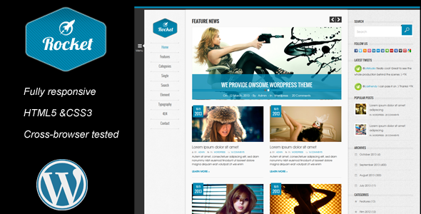 Rocket News is a Responsive WordPress Magazine The