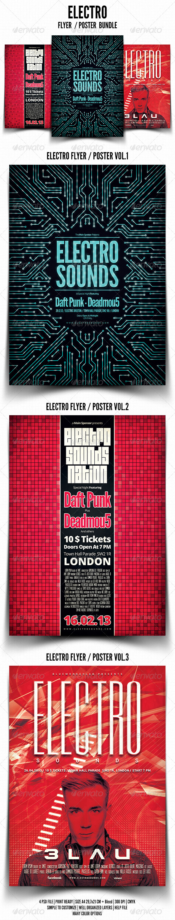 Electro Flyer / Poster Bundle - Events Flyers