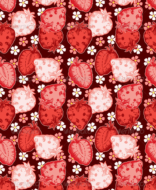 Strawberry Seamless - Patterns Decorative