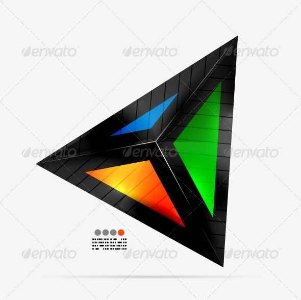 Abstract Geometrical Shape - Colorful Triangle - Web Elements Vectors