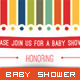 Baby Shower Invitation - Sweet Stripe - GraphicRiver Item for Sale