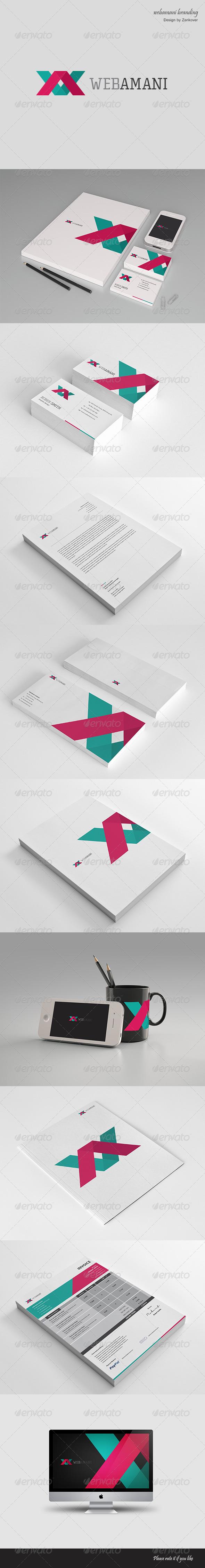 Webamani - Modern Stationary + Invoice - Stationery Print Templates