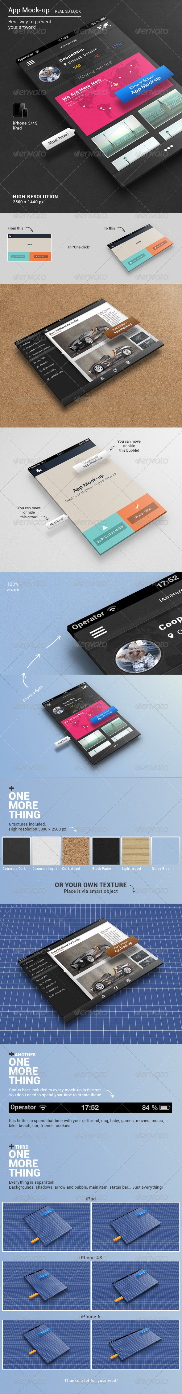 App Mock-up - Mobile Displays