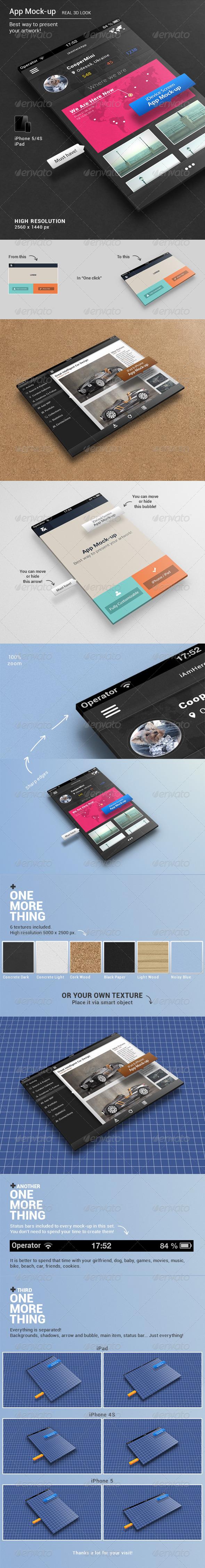 App Mock-up - Mobile Displays