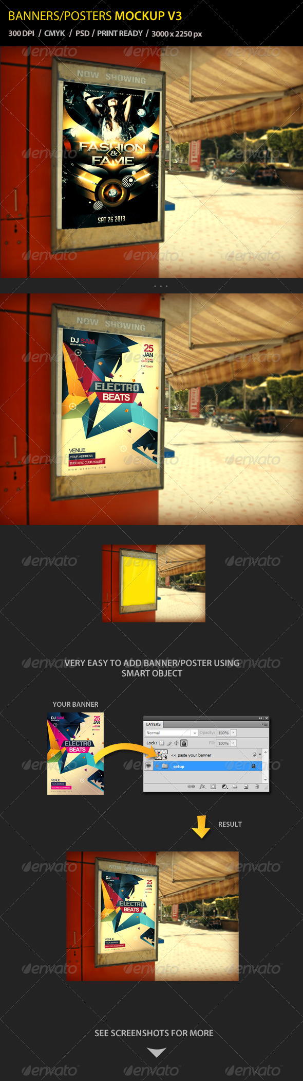 Banner / Poster Mockup V3 - Posters Print