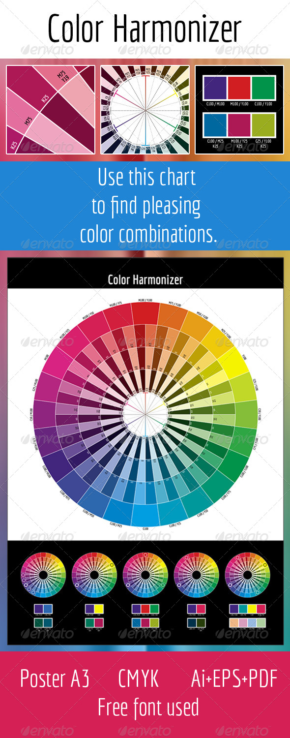 CMYK Color Harmonizer - Miscellaneous Vectors