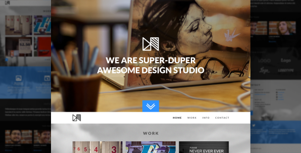 Nonus One Page Parallax PSD Template