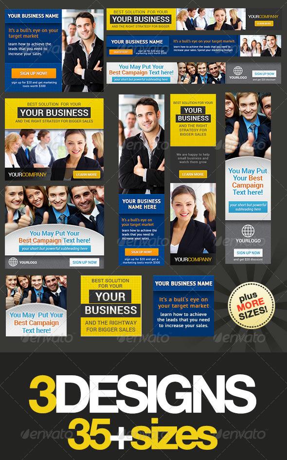 Corporate Banner Set Bundle 3.0 - Banners & Ads Web Elements