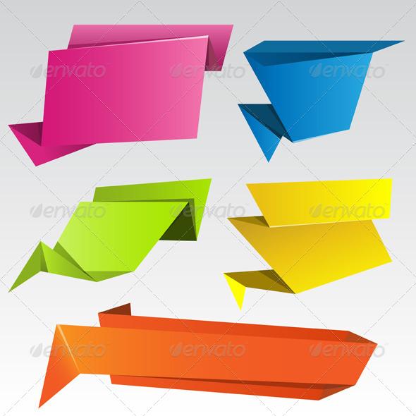Origami Banners - Decorative Symbols Decorative