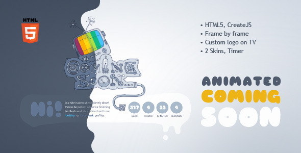 Coming Soon Machine - Animated HTML5 Template - Under Construction Specialty Pages