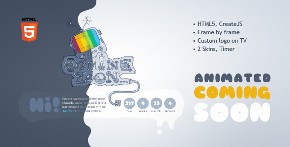 Coming Soon Machine Animated Html5 Template By Kontramax Themeforest