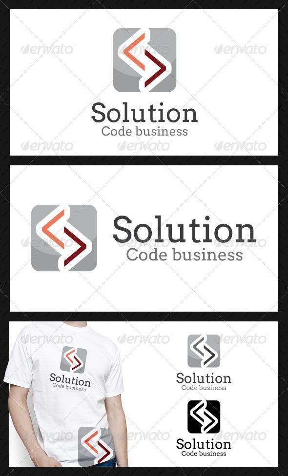 Solution Code Business Logo Template - Symbols Logo Templates