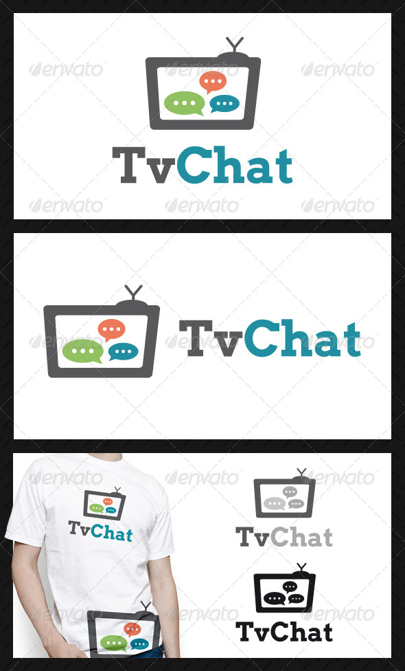 Tv Chat Logo Template - Objects Logo Templates