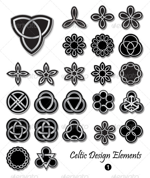 Celtic Design Elements 1 By Infografx Graphicriver