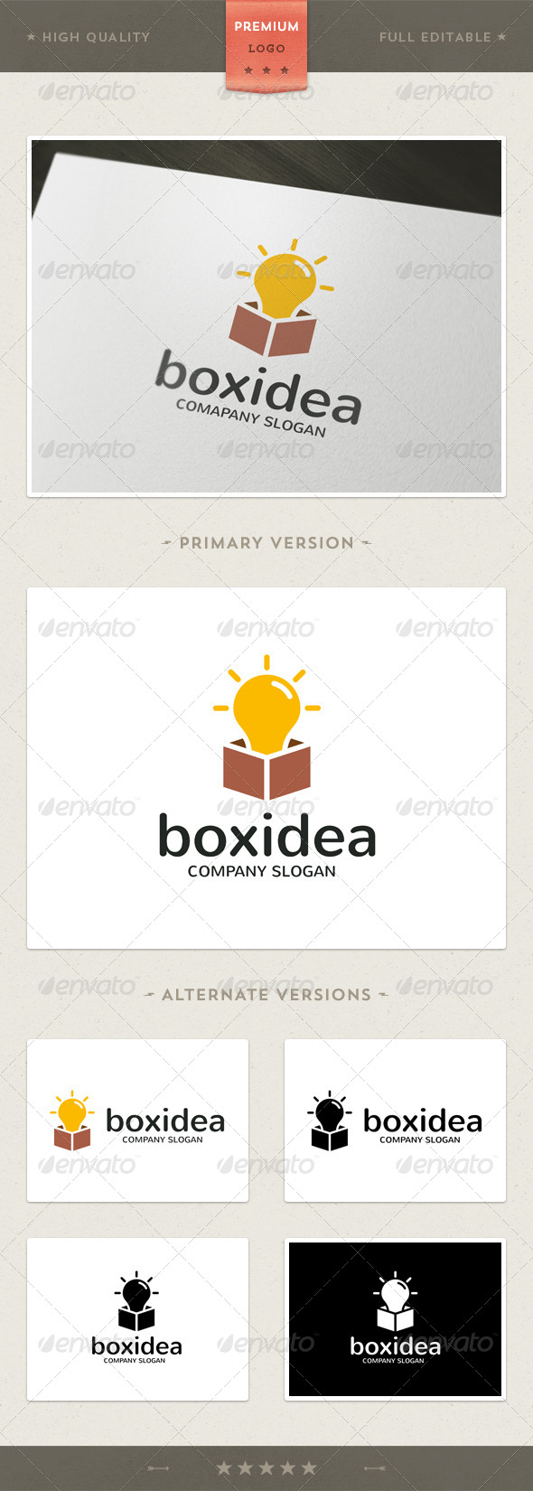 Box Idea Logo Template - Objects Logo Templates