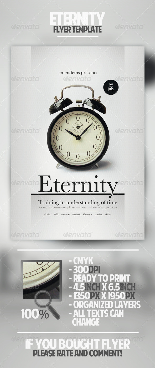 Eternity Flyer Template - Miscellaneous Events