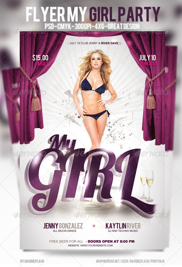 Flyer My Girl Party - Events Flyers