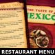 Mexican Restaurant Menu PSD Template - GraphicRiver Item for Sale