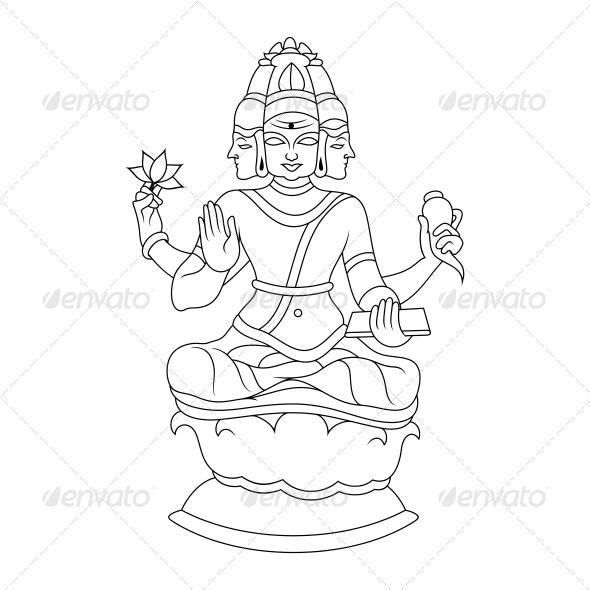 Brahma Religious Vector Design - Religion Conceptual