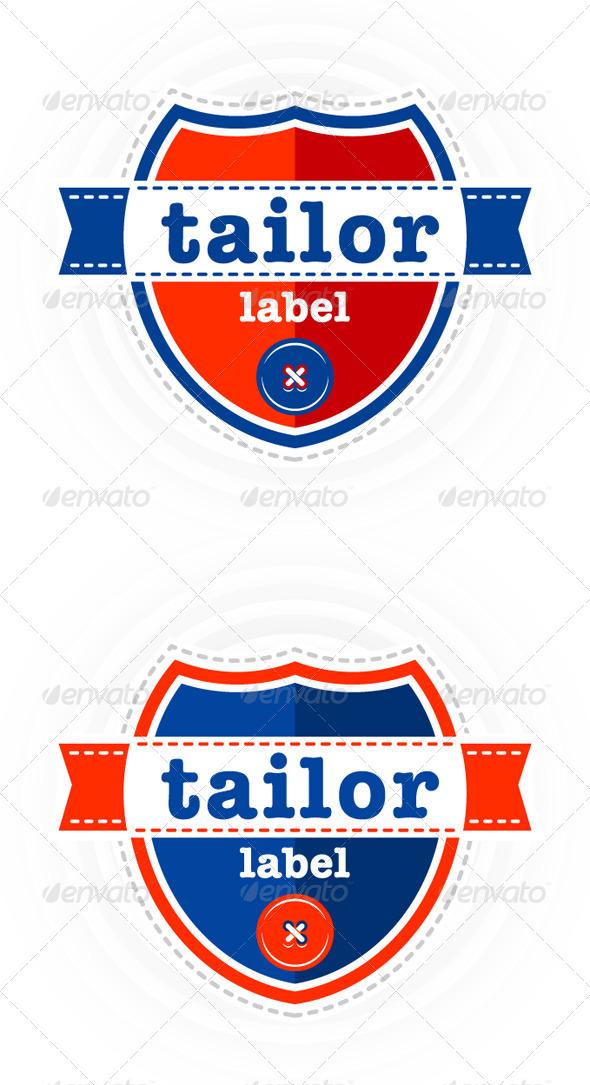 Set of vector Tailor theme labels - Decorative Symbols Decorative