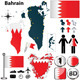 Map of Bahrain - GraphicRiver Item for Sale