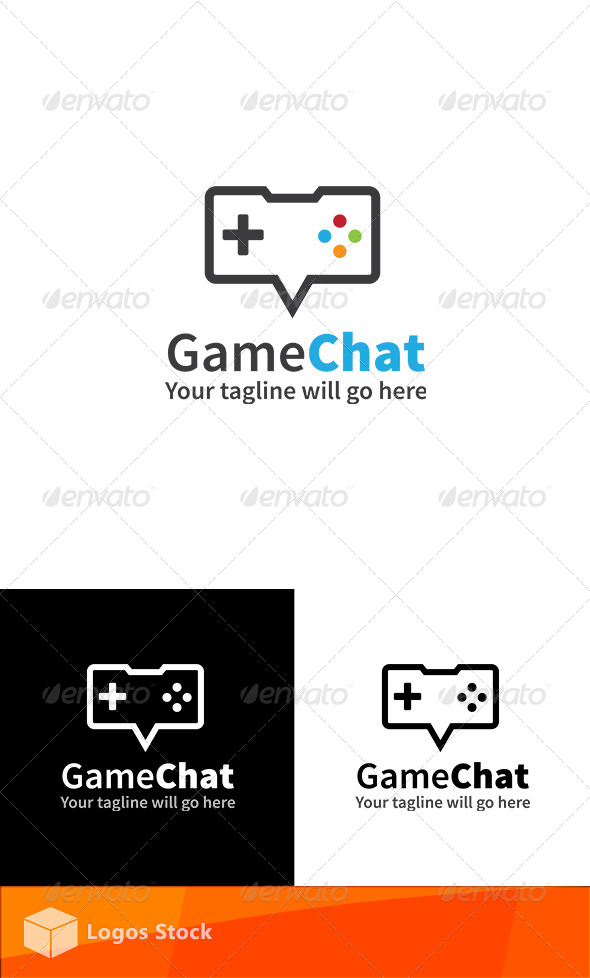 Gaming Logo - Game Chat - Vector Abstract