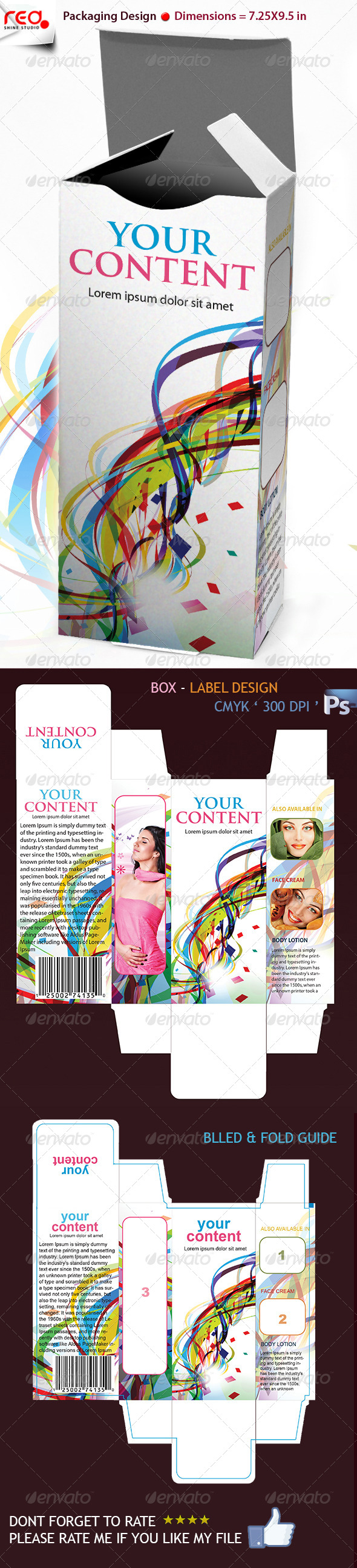3D Box Template Design - Miscellaneous Print Templates