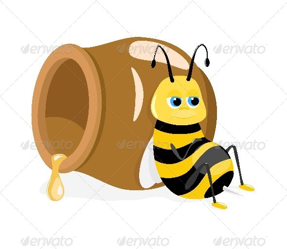 Bee and Honey Pot - Miscellaneous Characters