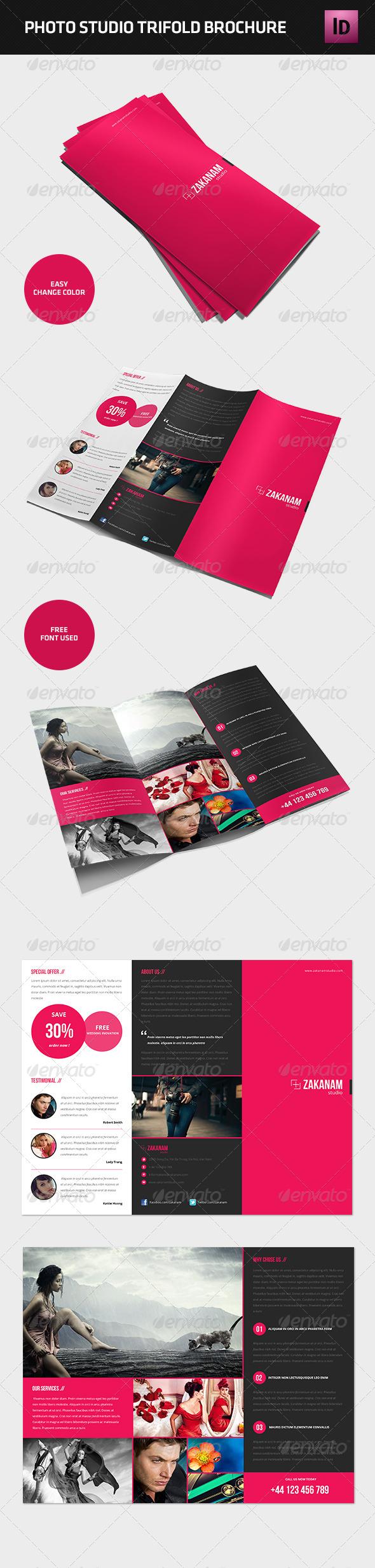 Modern Photography Studio Tri-Fold Brochure - Brochures Print Templates