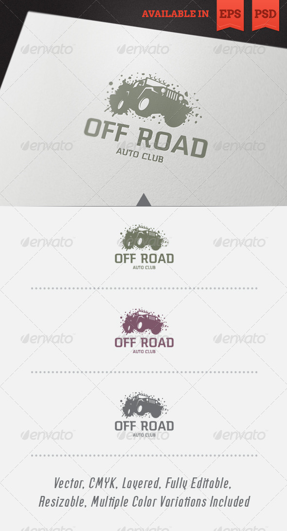 Off Road Logo Template - Objects Logo Templates