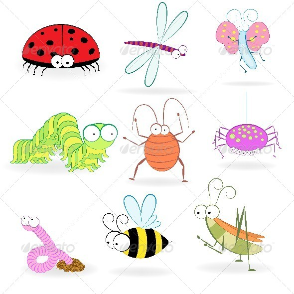 Set of Cartoon Insects - Miscellaneous Characters