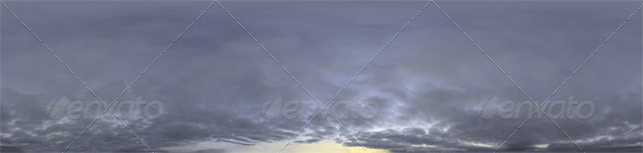 Skydome HDRI - Dusk Clouds - 3DOcean Item for Sale