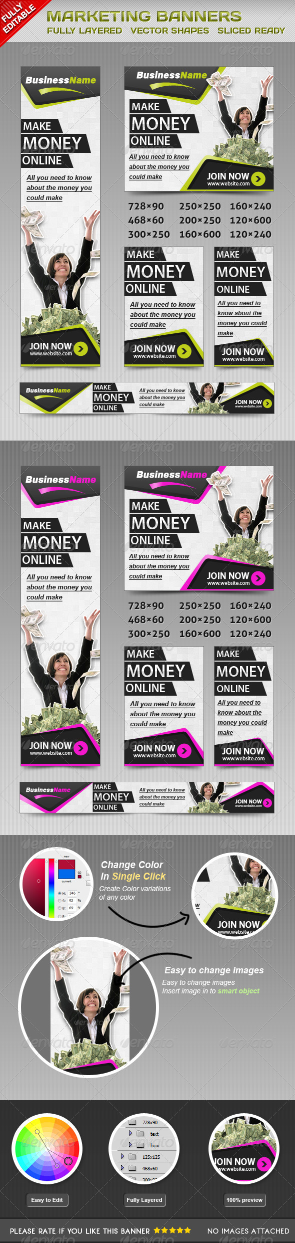 Marketing Banners - Banners & Ads Web Elements