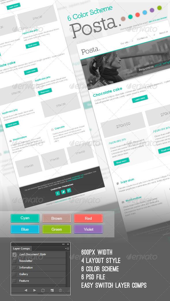 Posta E-Newsletter - E-newsletters Web Elements