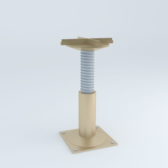Technical Floor Pedestal - 3DOcean Item for Sale