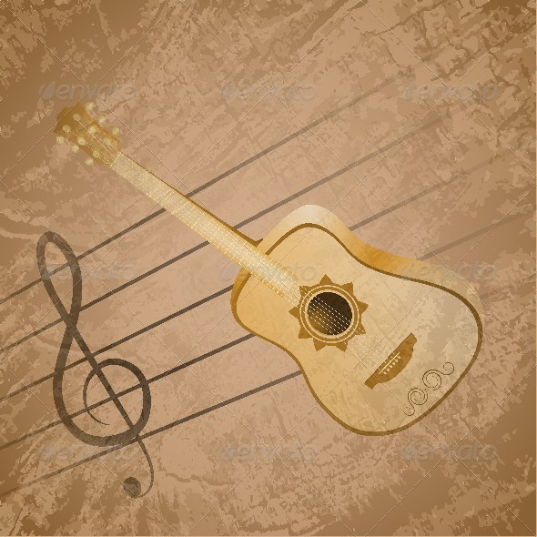 Classic Guitar Background Theme - Backgrounds Decorative