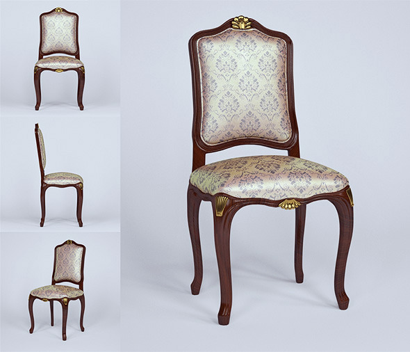 3d model chair of Ceppi - 3DOcean Item for Sale
