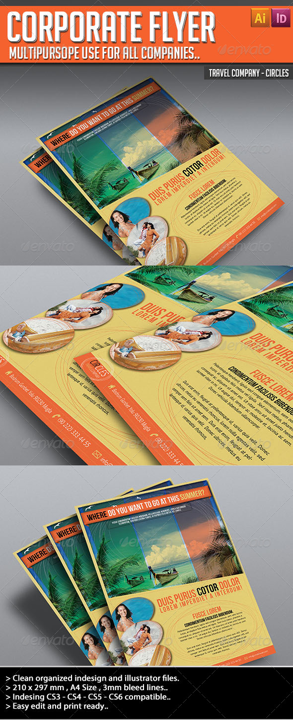 Corporate Flyer - Circles - Holidays Events