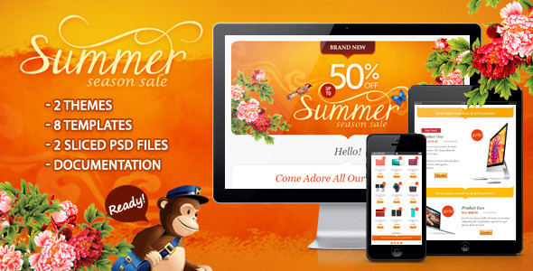 Summer Season Sale - Newsletters Email Templates