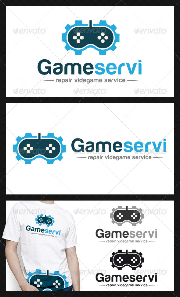 Game Gear Repair Service Logo - Objects Logo Templates