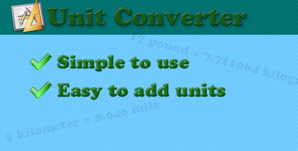 Unit converter class - CodeCanyon Item for Sale