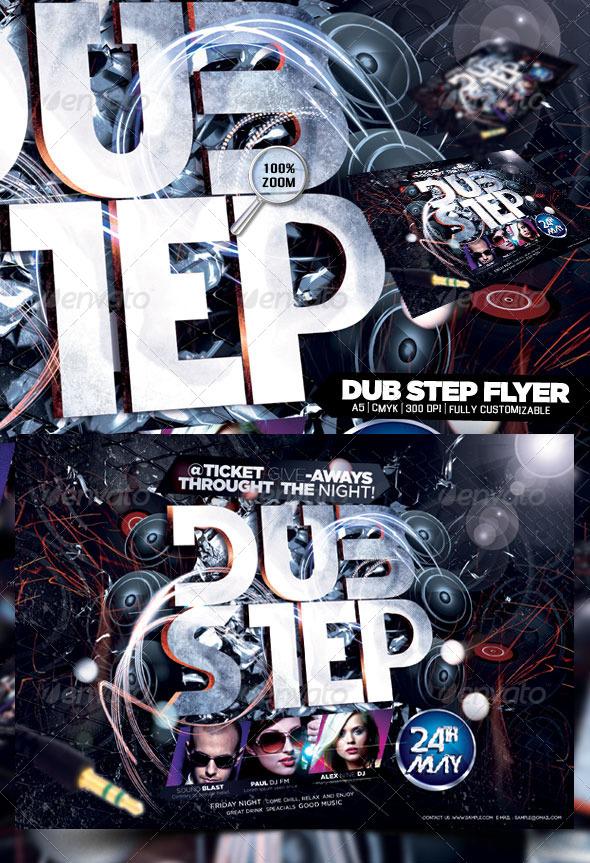Dub Step Flyer - Flyers Print Templates