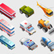 Isometric of Several Vehicle and Transportation - GraphicRiver Item for Sale